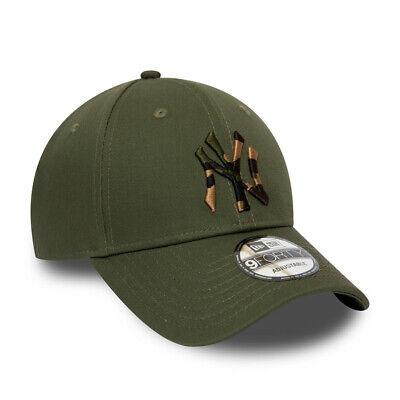 New Era New York Yankees Baseball Cap.9Forty Mlb Camo Green Strapback Hat S20 7 2