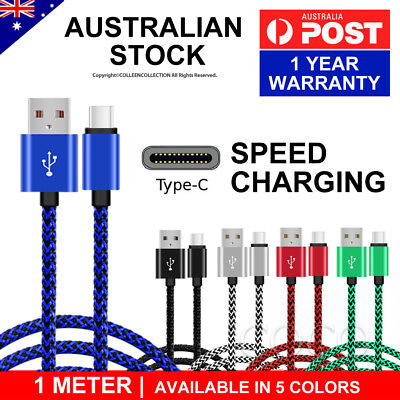For Samsung Type-C Data Fast Charge USB Cable Galaxy S10 Plus S9 Note 10 A70 A50 2