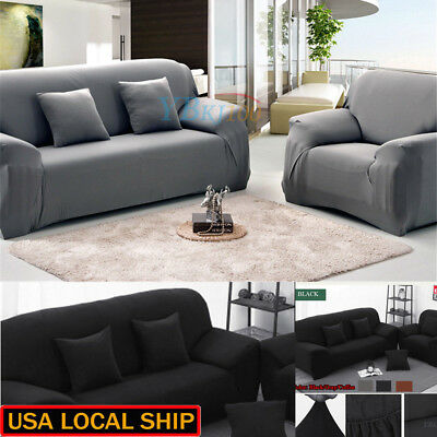 1-3 Seater Stretch Loveseat Sofa Couch Protect Cover Slipcover Washable Elastic 3
