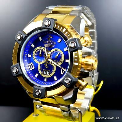 Invicta Reserve Grand Octane Arsenal 2 Tone Steel 63mm Swiss Mvt Blue Watch New 7