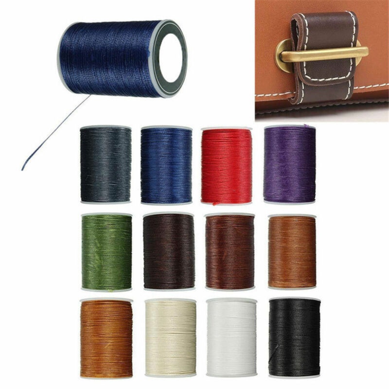 90M Strong Bounded Waxed Thread 0.8mm Nylon Cord For Leather Sewing Stitch Craft 2