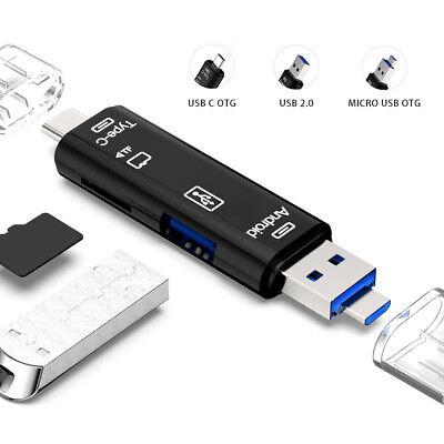 USB / USB Type C 3.1 / MicroUSB External Micro SD Card Reader OTG Adapter 6