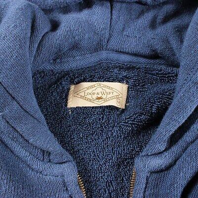 SALE LOOP & Weft Long Pile Hooded Sweatshirt Blue Made