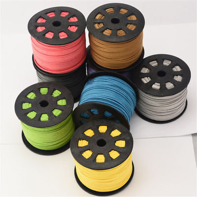 5m 3mm Faux Suede Cord Lace Thread String Leather Jewellery Beading(R007-3.0mm) 4