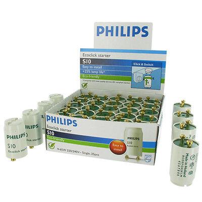 10x Starter Philips ECOCLICK S10 für Leuchtstoffröhren von 4- 65 Watt | NEU