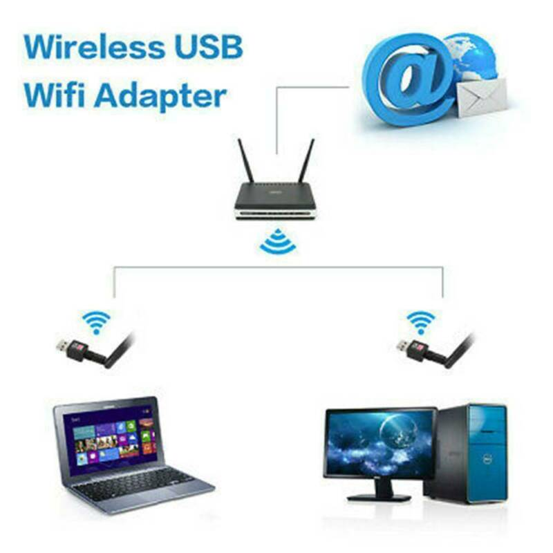1200Mbps Wireless USB Wifi Adapter Dongle Dual Band 2.4G/5GHz with Antenna Call 7