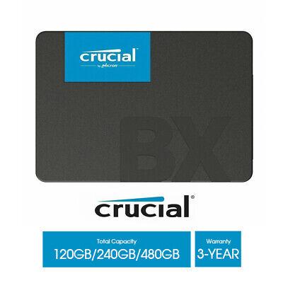 "Crucial BX500 SSD 120GB 240GB 480GB Solid State Drive 2.5"" SATA III 540MB/s New 2"