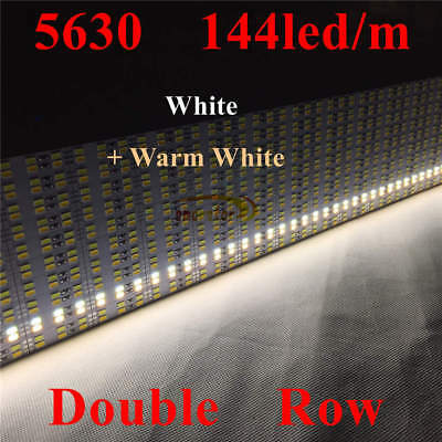Embedded Aluminum Shell PC Cover Dual Row 5630 Led Strip Bar Light 12V 1M 0.5M 8