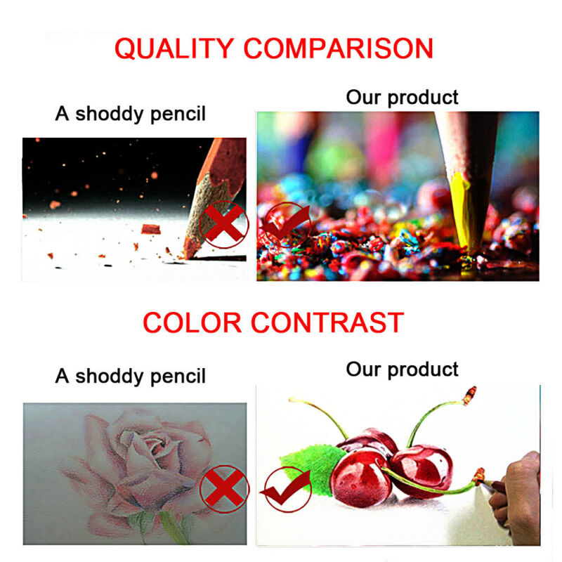 160 x Pro Colouring Pencil Set Drawing Artist Kids Colour Therapy In Tin UK 4