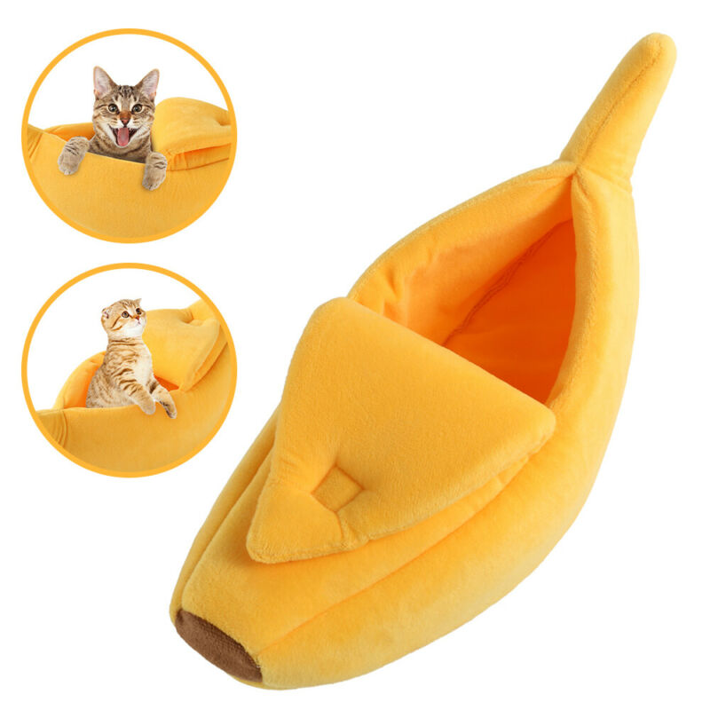 Banana Cat Dog House Soft Warm Puppy Kennel Sleeping Bed House Tent Pet Supplies 3
