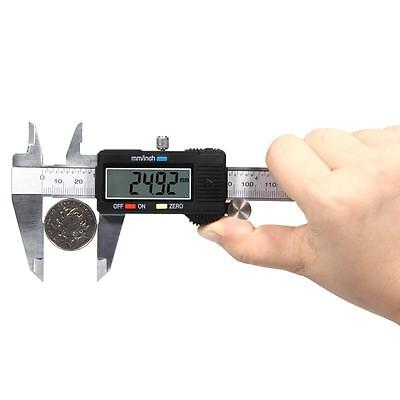 1xDigital Electronic Plastic Gauge Vernier Caliper 150mm 6inch Micrometer Useful