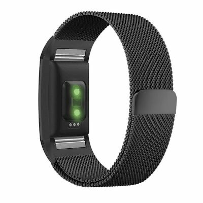 For Fitbit Charge 2 Watch Strap Wrist Band Milanese Stainless Steel Classic UK 3