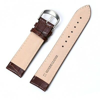 Uhrband Uhrenarmband Uhrenband Armband Kalbs Leder Kroko Narbung Krokodilprägung 7