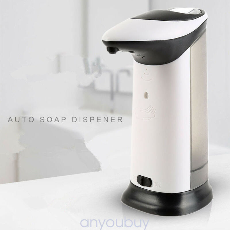 400ml Automatic Soap Sanitizer Dispenser With IR Sensor For Kitchen Bathroom New