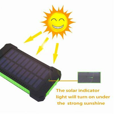 50000mah Solar Power Bank 2 LED 2 USB Waterproof Battery Charger for Cell Phone 3
