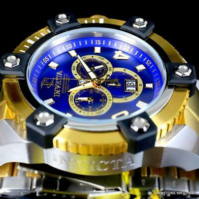 Invicta Reserve Grand Octane Arsenal 2 Tone Steel 63mm Swiss Mvt Blue Watch New 11
