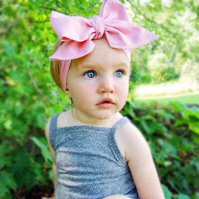 Baby Girls Floral Headwrap Top Knot Big Bow Turban Tie Headband Hair Accessories 2