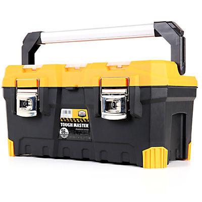 Tool Box Tough Master 22'' With Tray & Compartment Organiser Aluminium Handle 4