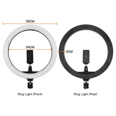LED Video Ring Light Studio Camera Photography Selfie Makeup Lamp & Tripod Stand 2