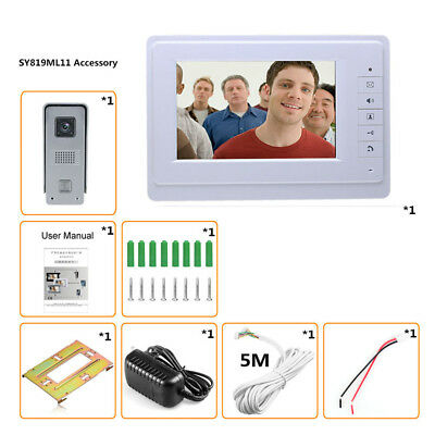 "DE 7"" LCD Türklingel Video Türsprechanlage IR Kamera Nachtsicht Intercom Monitor"