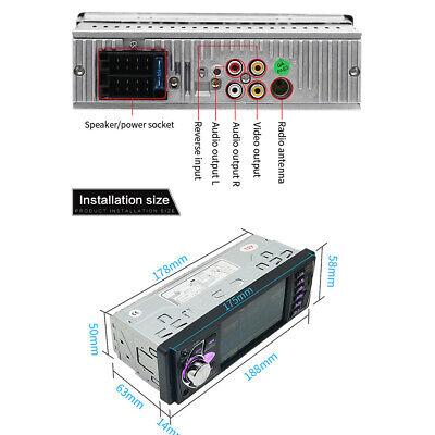 1Din Autoradio Mit Bildschirm Display Video Monitor Bluetooth Freisprech Usb Sd 11