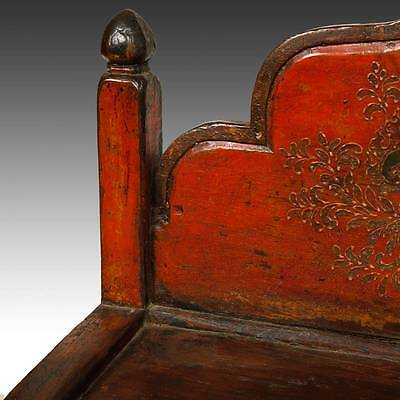 Rare Antique Buddha Stand Altar Painted Pine Tibet Chinese Furniture 19Th C. 6