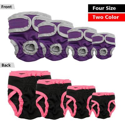 Dog Nappy Diaper Incontinence Season Pants Adjustable Black Purple Season Puppy 10