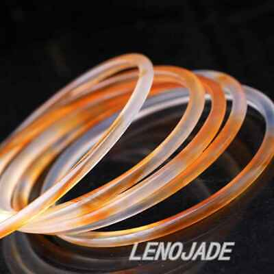 1x Thin and Small 54MM Chinese Icy Translucent Red Natural Jade Bangle Bracelet 3
