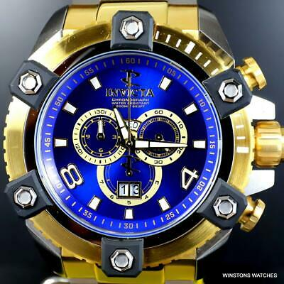 Invicta Reserve Grand Octane Arsenal 2 Tone Steel 63mm Swiss Mvt Blue Watch New 3