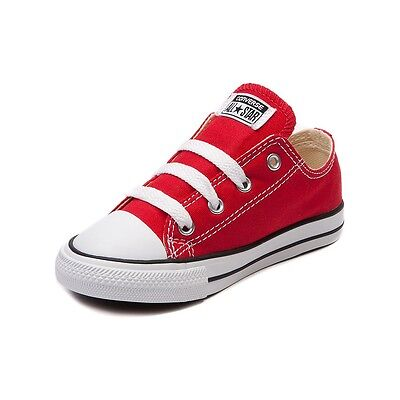 c1150f1bd3d ... Converse All Star Low Chucks Infant Toddler Red Canvas Shoe 7J236 Free  Shipping 4