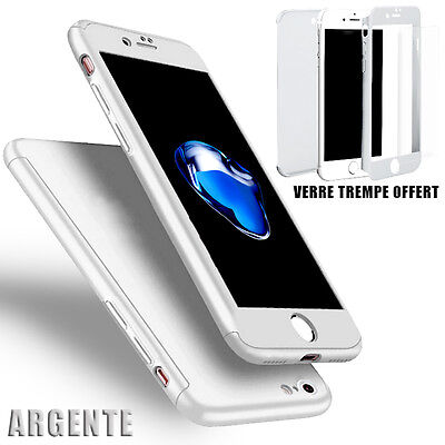 Housse Etui Coque 360 Protection Iphone 6/Plus/7/8/X/5S/Se + Vitre Verre Trempe 4