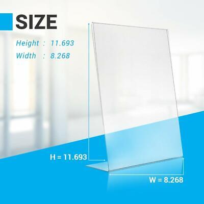 AdirOffice 8.5 in x 11 in Slanted Side-Loading Acrylic Sign Holder 12 Pack 7
