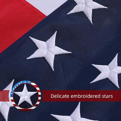 8'x 12' Ft American Flag 420D Nylon Embroidered Stars Brass Grommets US Flag 2