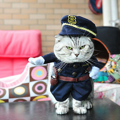 Pet Small Dog Cat Pirate Costume Outfit Jumpsuit Clothes For Halloween Christmas 8