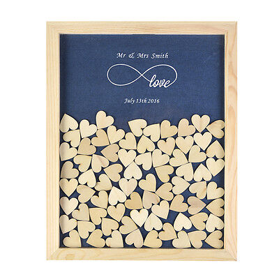 PERSONALIZED ENGRAVED LOVE Rustic Drop Top Wooden Wedding Guest Book ...
