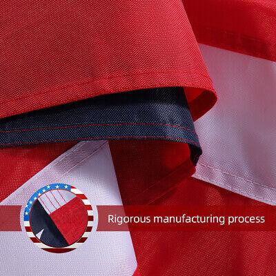 8'x 12' Ft American Flag 420D Nylon Embroidered Stars Brass Grommets US Flag 6