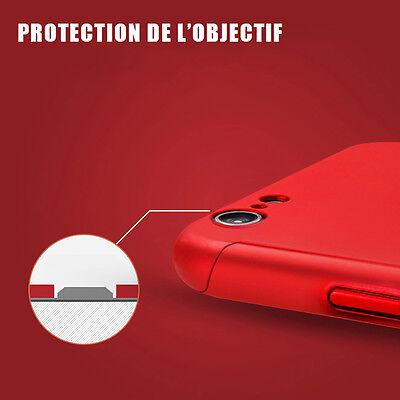 Coque Housse Etui Total 360° Pour Iphone  + Film Protection Vitre Verre Trempe