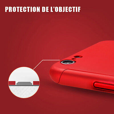 Coque Housse Total 360 Iphone 6 6S 7 8 5 Xr Xs Max Protection Vitre Verre Trempe 9