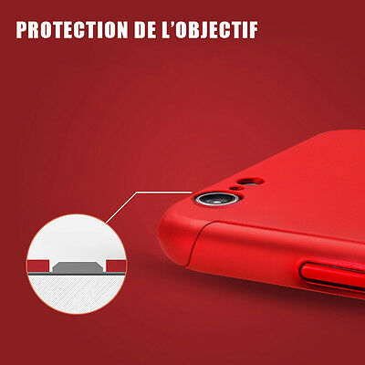 Coque Integral 360 Iphone 6 7 8 5 X Xr Xs Max Vitre Verre Trempe Protection 8