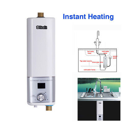 Electric Water Heater Portable Camping Outdoor Shower Instant Hot Water System 6