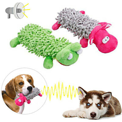 Funny Soft Pet Puppy Chew Play Squeaker Squeaky Cute Plush Sound Dog Toys UK # 5