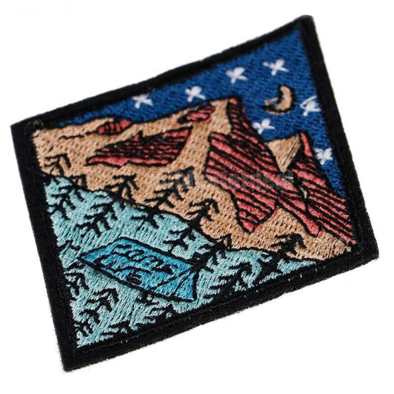 Outdoor Camping Embroidered Patch Nature Loving Badges Iron On Appliques 6