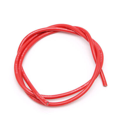 2m 10 AWG Gauge Wire Silicone Flexible Stranded Cables Black+Red ASS
