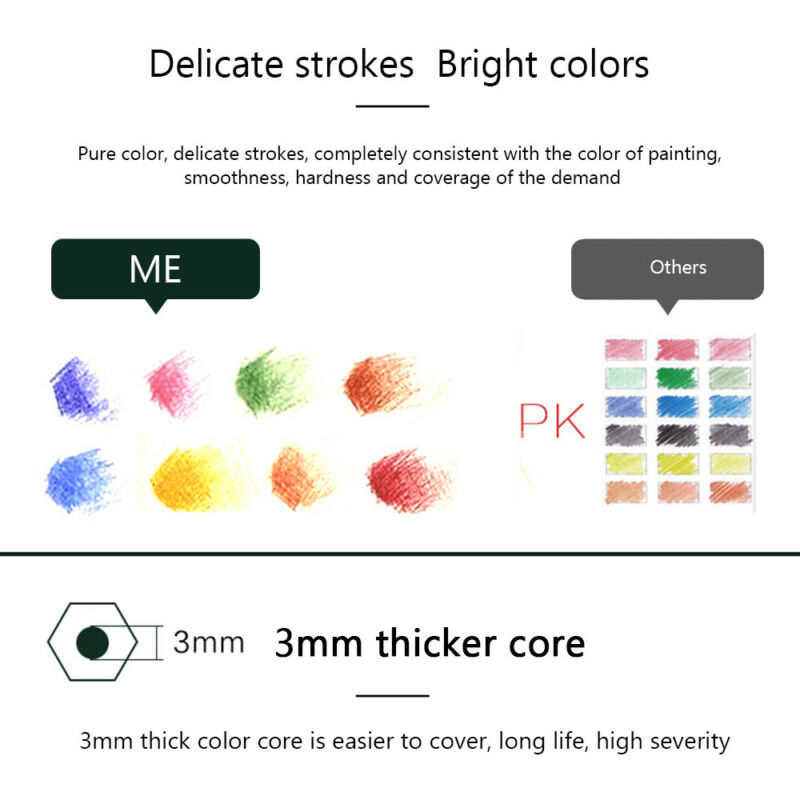 160 x Pro Colouring Pencil Set Drawing Artist Kids Colour Therapy In Tin UK 6