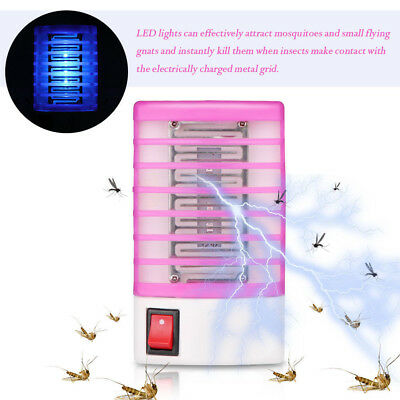 LED Socket Electric Mosquito Fly Bug Insect Killer Zapper Night Lamp Light C 9