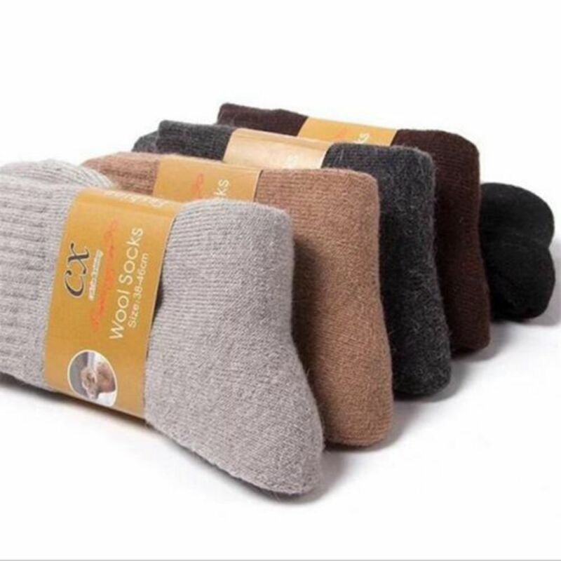 Warm Thick Wool Cashmere Comfortable Thick Socks Men Winter Outdoor Sport Socks 2