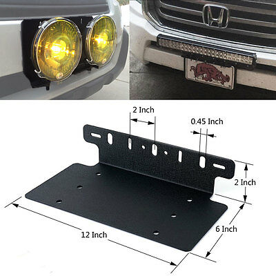 For ford truckcar pair 18w led light bar usa front license plate 5 of 6 for ford truckcar pair 18w led light bar usa front license plate mount bracket aloadofball Image collections