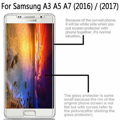 2Pcs HQ 9H Premium Tempered Glass Screen Protector Film For Samsung Galaxy Phone 3