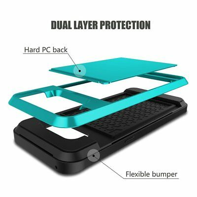 Shockproof Wallet Credit Card Holder Protective Case Cover Fits Samsung Galaxy 10