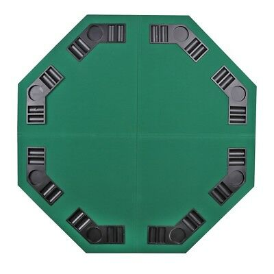 """48"""" Folding Octagon Poker Card Game Table Top w/Cup Chip Holders Blackjack Party 12"""